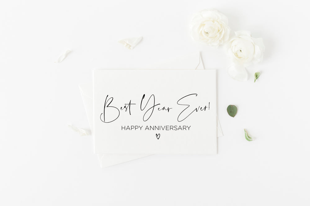 Best Year Ever Happy First Anniversary Card