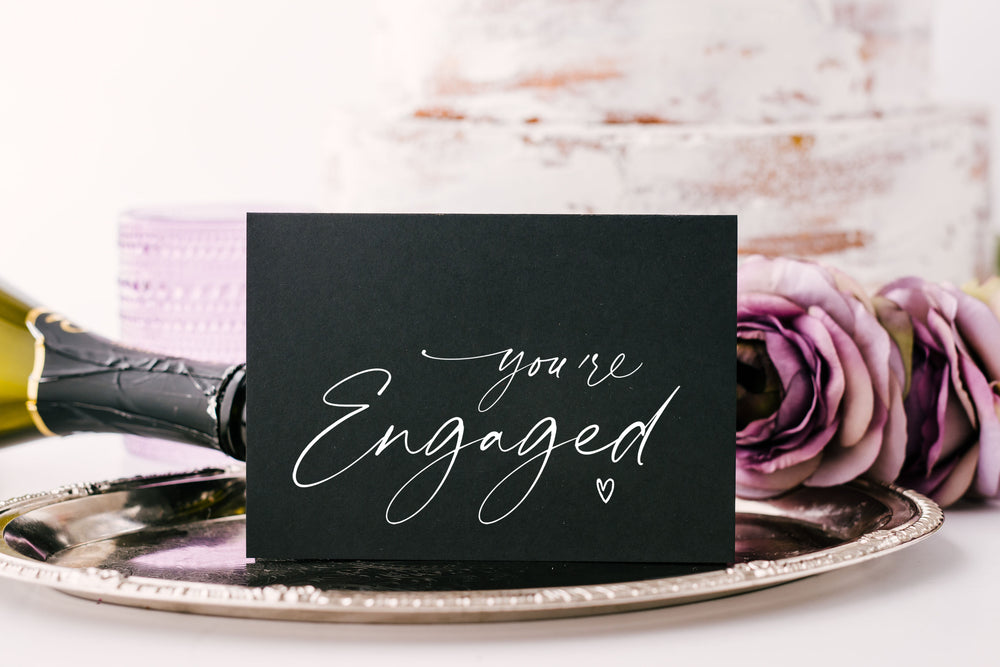 Congrats you're engaged wedding card for sister