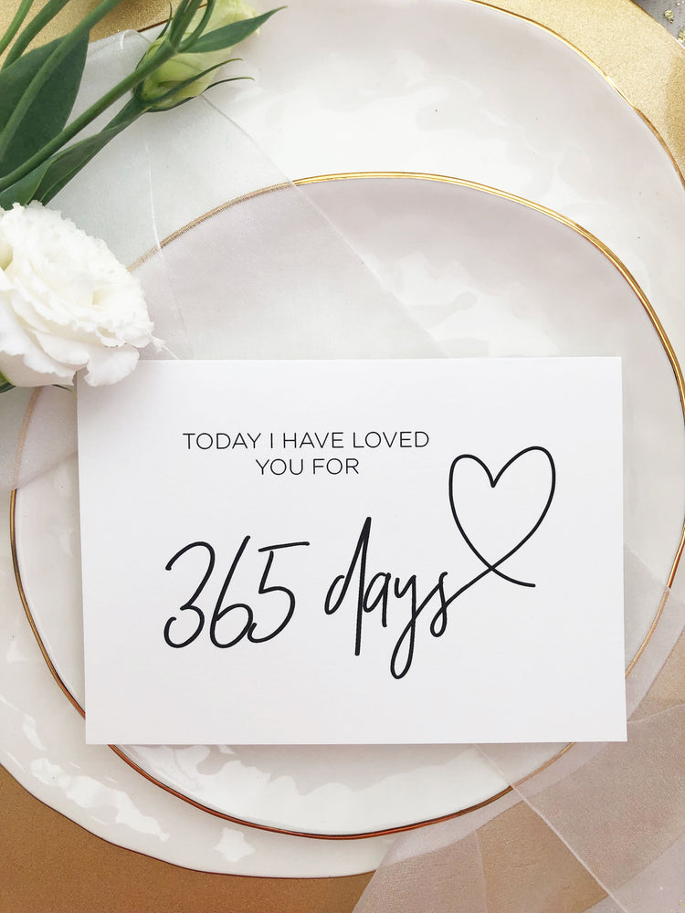 Happy 365 Days Anniversary First Wedding Anniversary Card