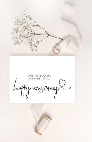 Happy First Anniversary Card
