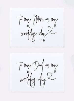 To My Mom on my Wedding Day Card for Mother of Bride