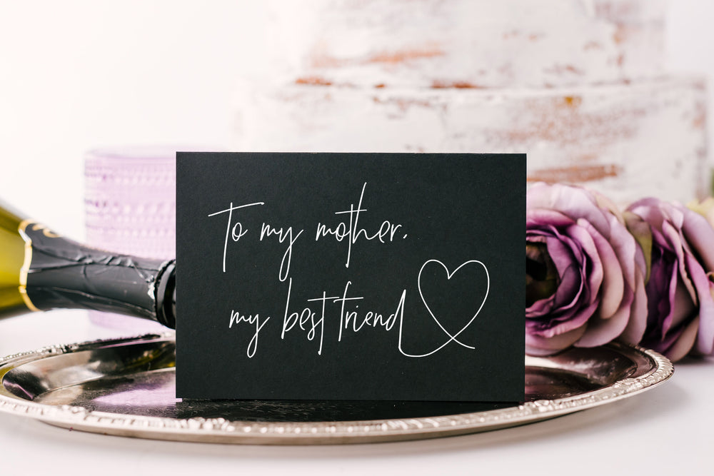 To My Mother My Best-friend Wedding Card