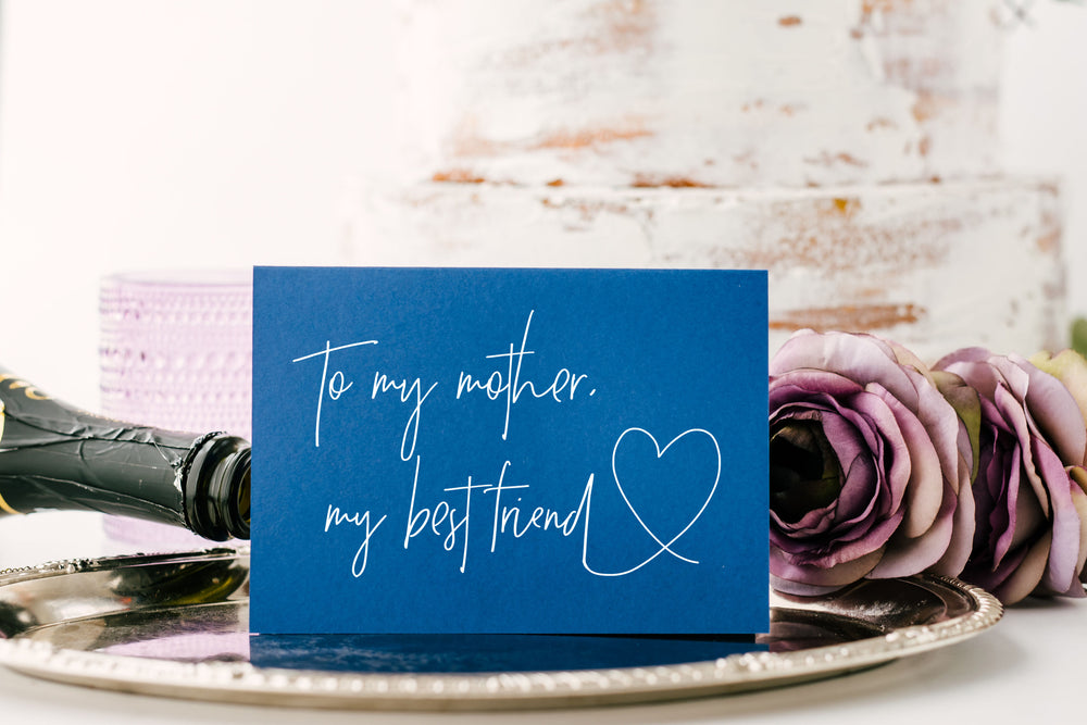 Mother Best Friend Wedding Card