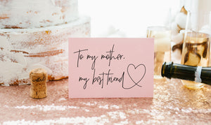 Cute Pink wedding card for Mom