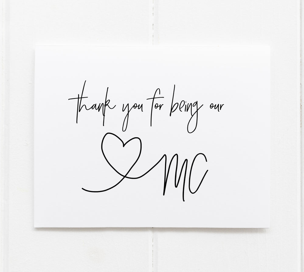 Mc Wedding Thank You card