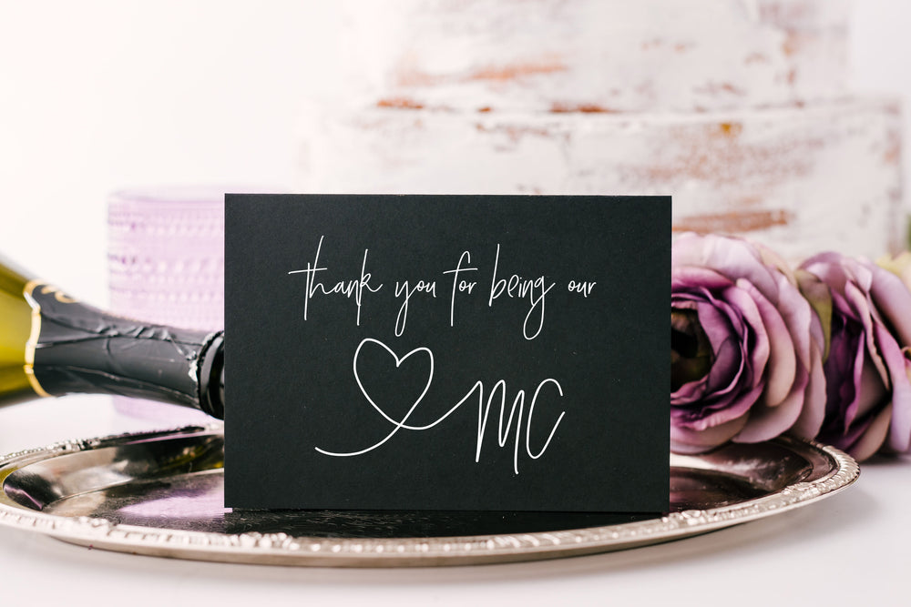 Wedding Mc Thank You Card