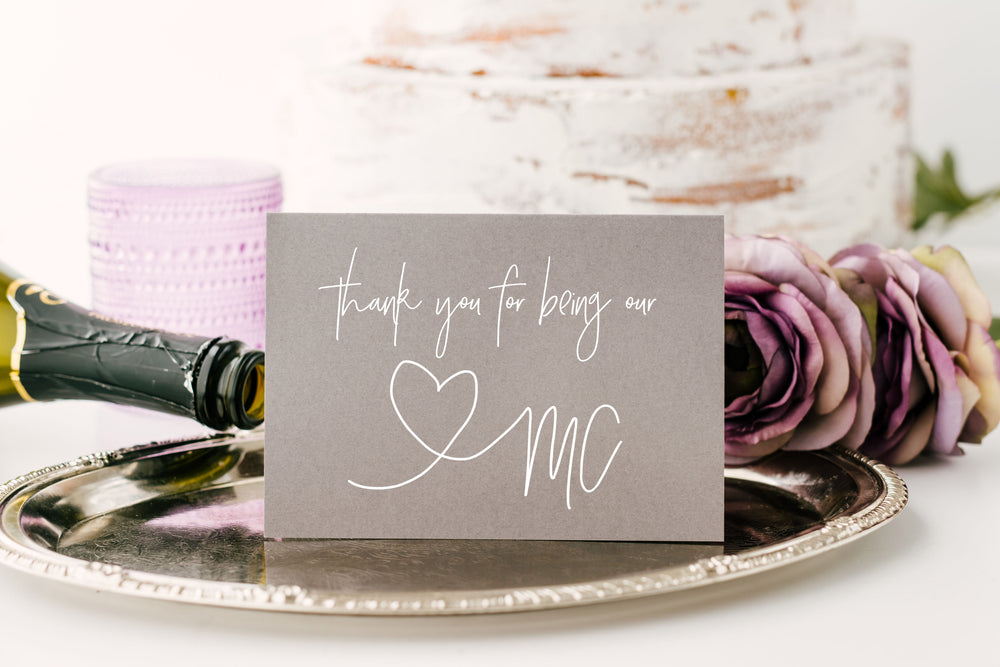 Load image into Gallery viewer, Mc Wedding Thank You card