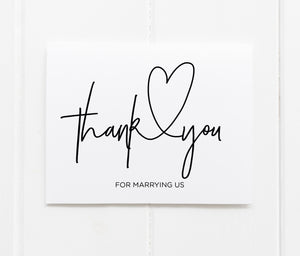 """Thank You For Marrying Us"" Thank You Card"