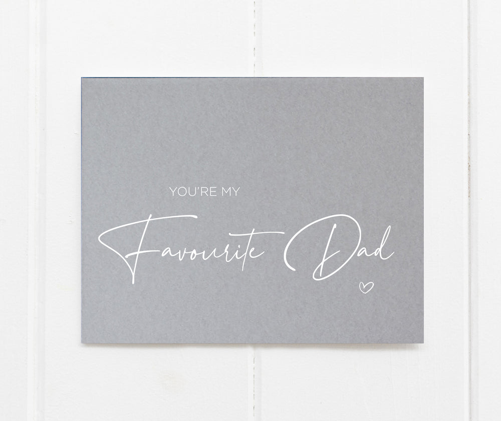 Funny Fathers Day Card for Favourite Dad