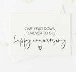 First Year Anniversary Card