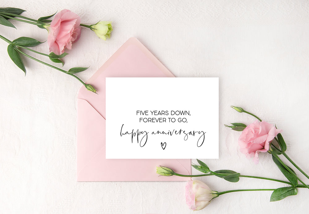 Load image into Gallery viewer, Elegant 5 year anniversary card