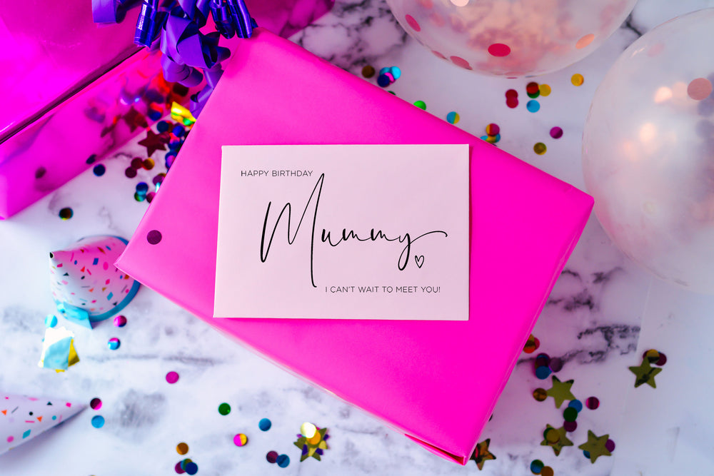 new num, mummy card, mum to be, happy birthday card for wife