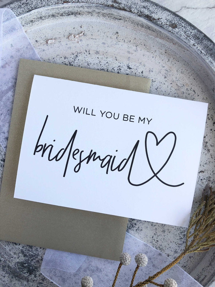 """Will You Be My Bridesmaid"" Bridal Party Proposal Card"