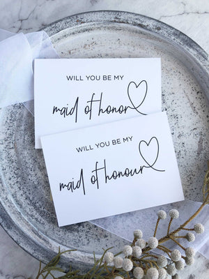 """Will You Be My Maid of Honor"" Bridesmaid Proposal Card"