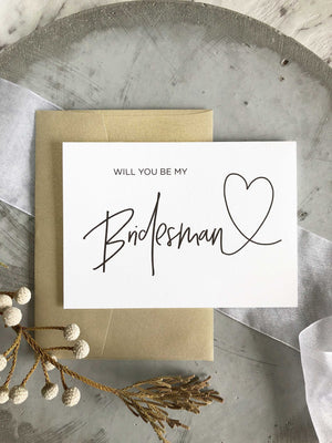 "Load image into Gallery viewer, ""Will You Be My Bridesman"" Bridesman Proposal Card"