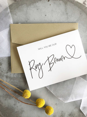 """Will You Be Our Ring Bearer?"" Wedding Card"