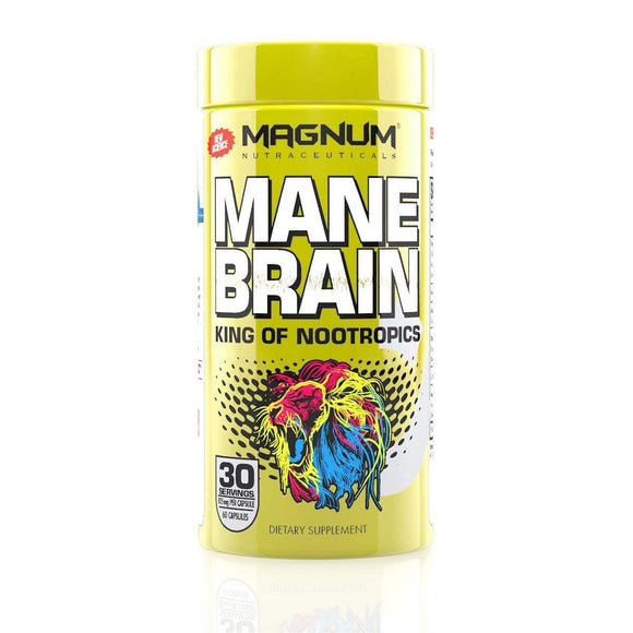 Magnum Nutraceuticals Mane Brain, nootropic, capsule, main brain, lions main, supplement, supplements, focus, energy, mood