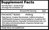 insane labz psychotic supplement facts pre workout