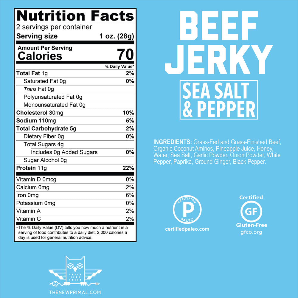 Beef Jerky Sampler<br>100% Grass-Fed Beef