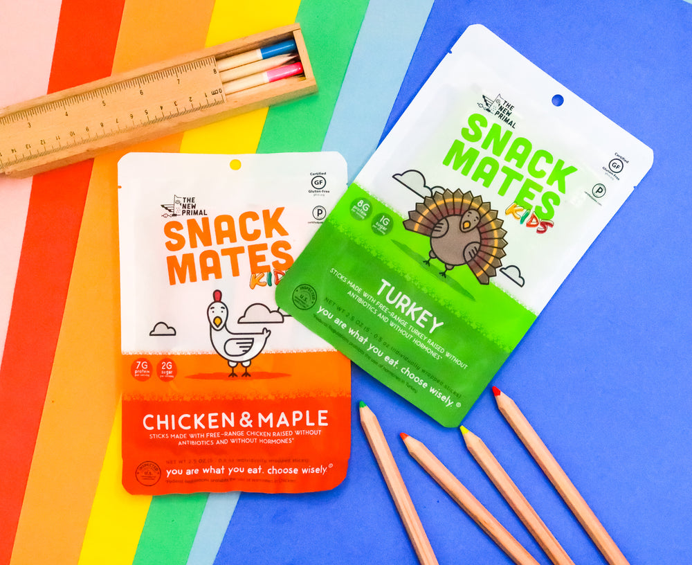 Snack Mates Chicken & Maple Mini Meat Sticks (8 Bags, 40 Mini-Sticks)