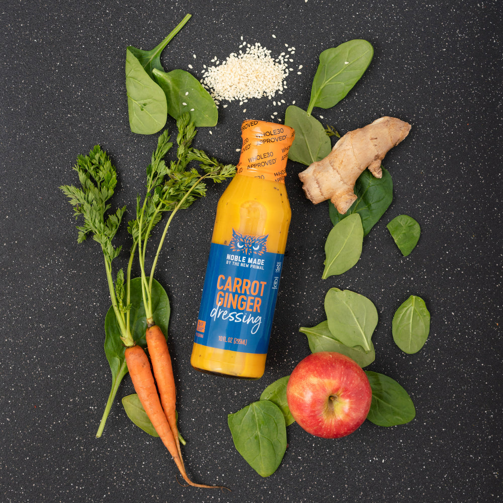 Carrot Ginger Salad Dressing <br> Whole30 Approved®