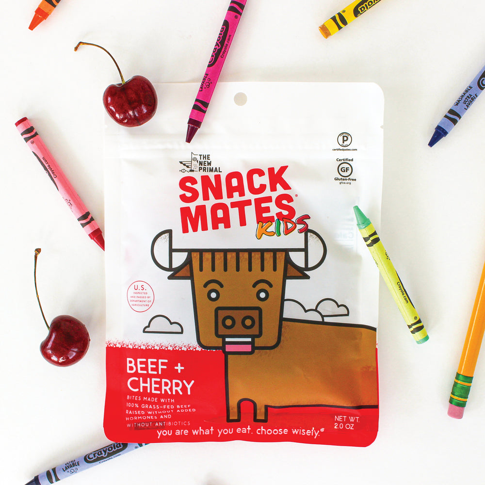 Snack Mates Beef and Cherry Bites 100% Grass-Fed Beef (8 Bags)