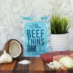 Sea Salt Beef Thins 100% Grass-Fed Beef Whole30 Approved® (1 Bag)