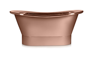 Polished Copper Bath - Bateau B