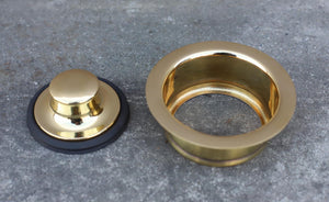 Brass Sink Plug - 3.5 Inch Waste