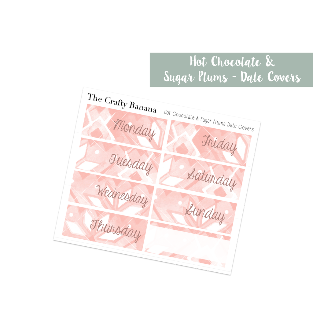 Hot Chocolate & Sugar Plums: Pattern Date Covers