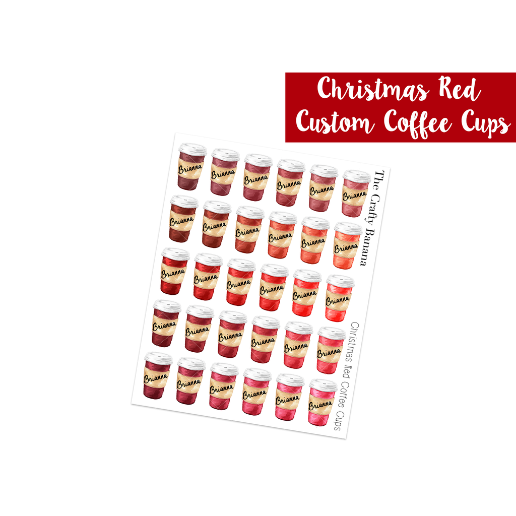 Christmas Red Customizable Coffee Cups