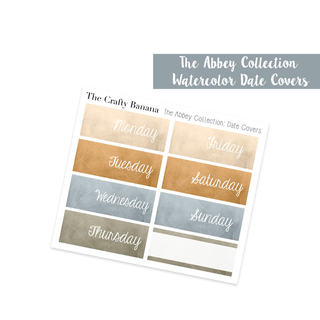The Abbey Collection - Watercolor Date Covers
