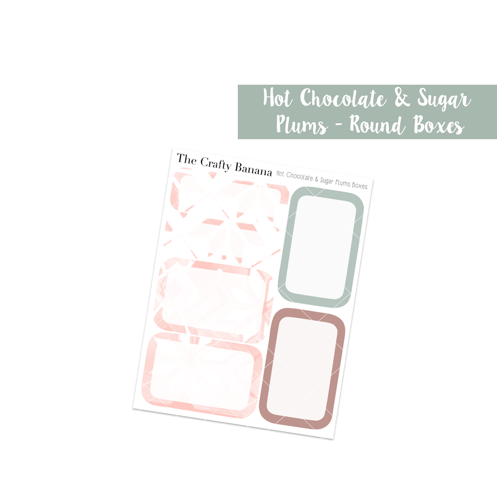 Hot Chocolate & Sugar Plums: Round Boxes