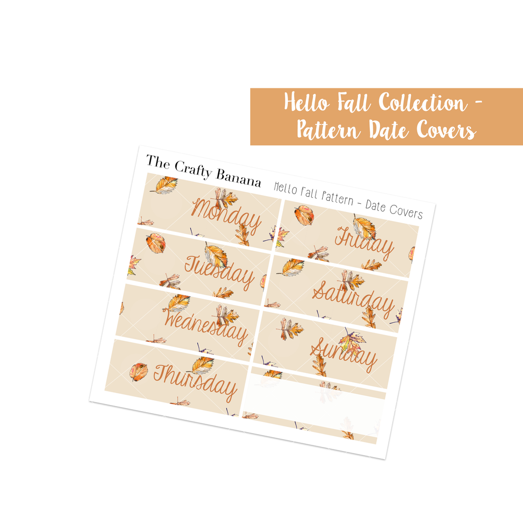 Hello Fall Collection: Pattern Date Covers