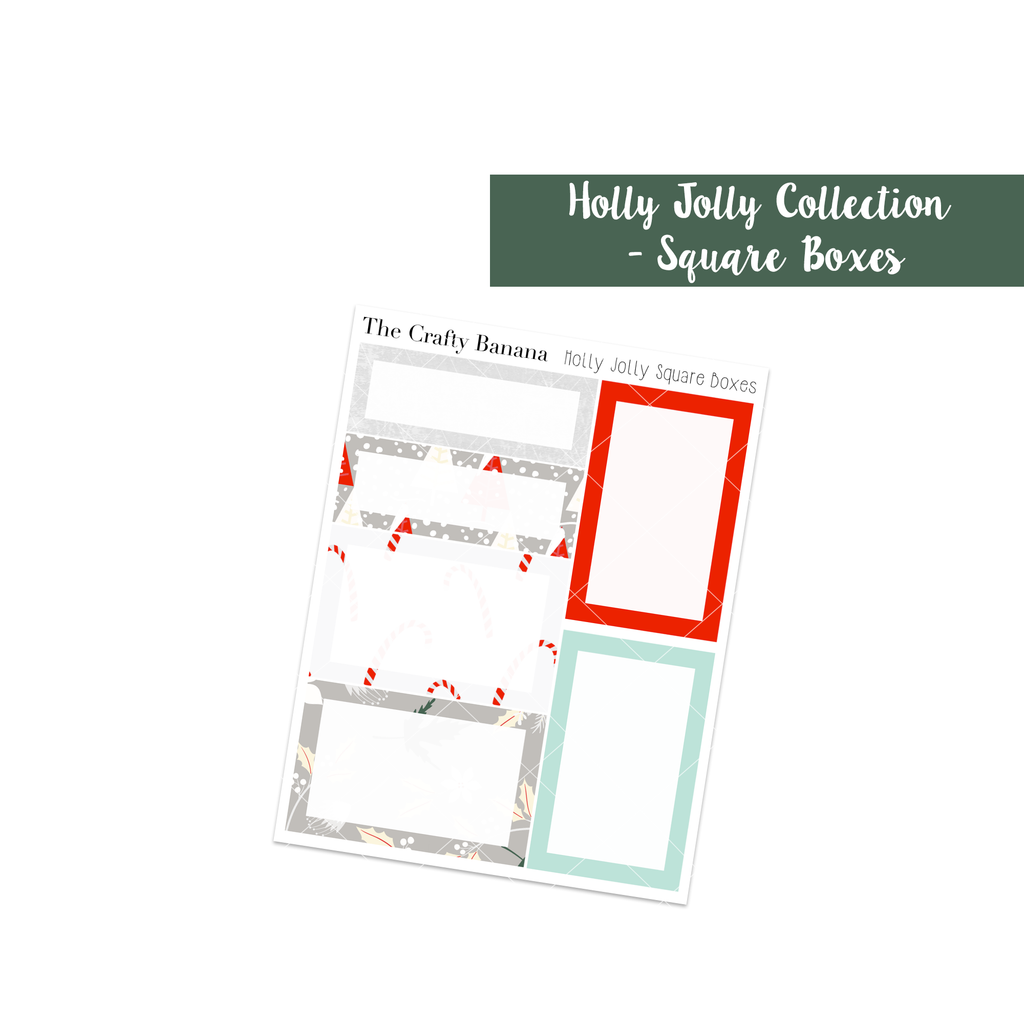 Holly Jolly Christmas: Square Boxes
