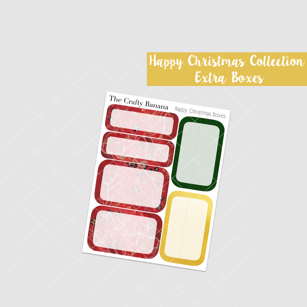 *Happy Christmas Collection - Round Boxes