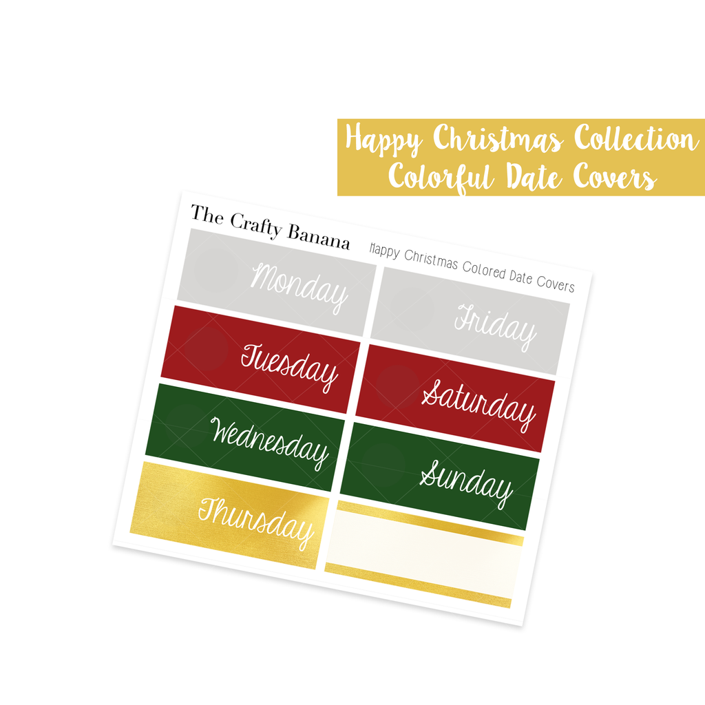 Happy Christmas Colored Date Covers