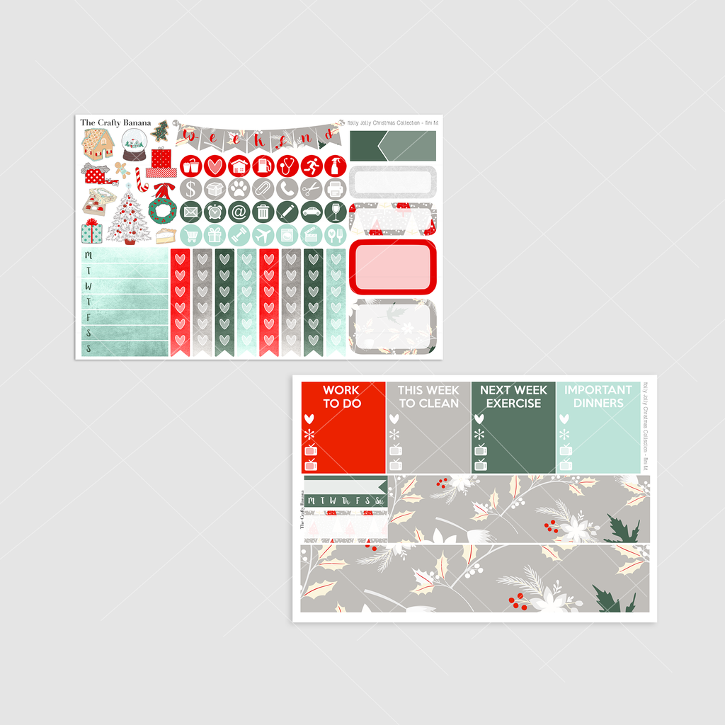 *Holly Jolly Christmas Collection - Mini Kit Sampler & Washi Sheets