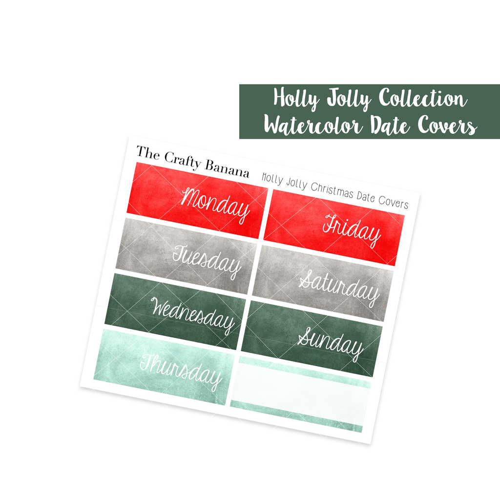 Holly Jolly Watercolor Date Covers