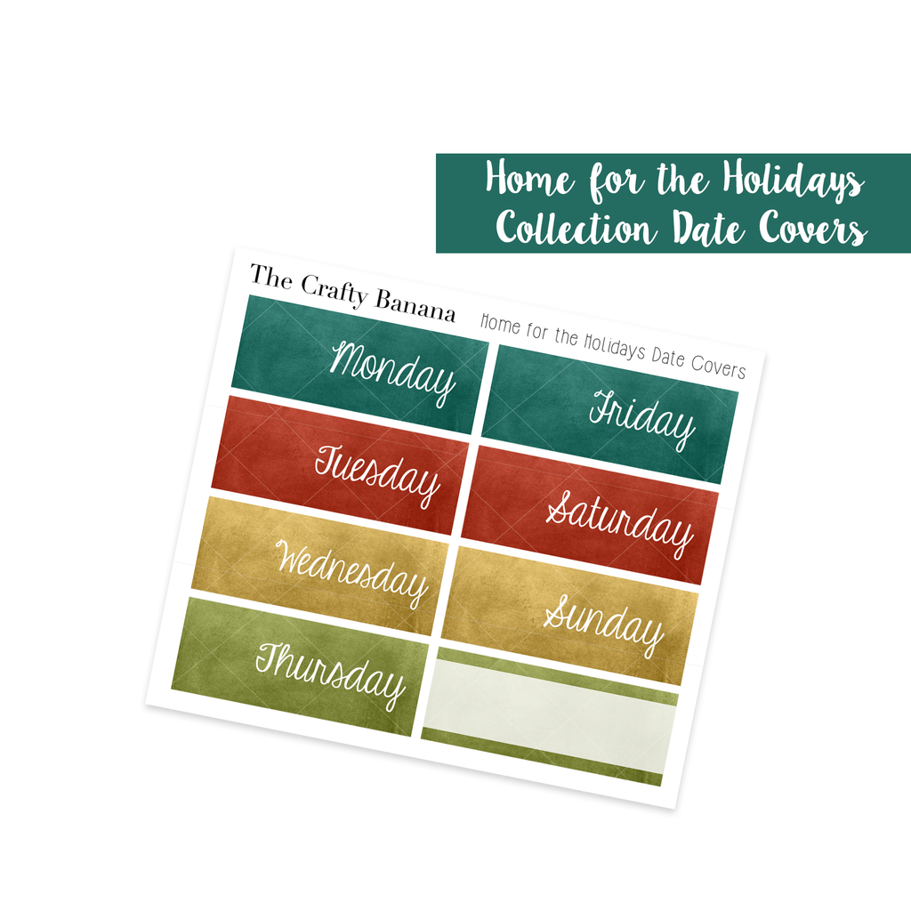 Home for the Holidays Watercolor Date Covers