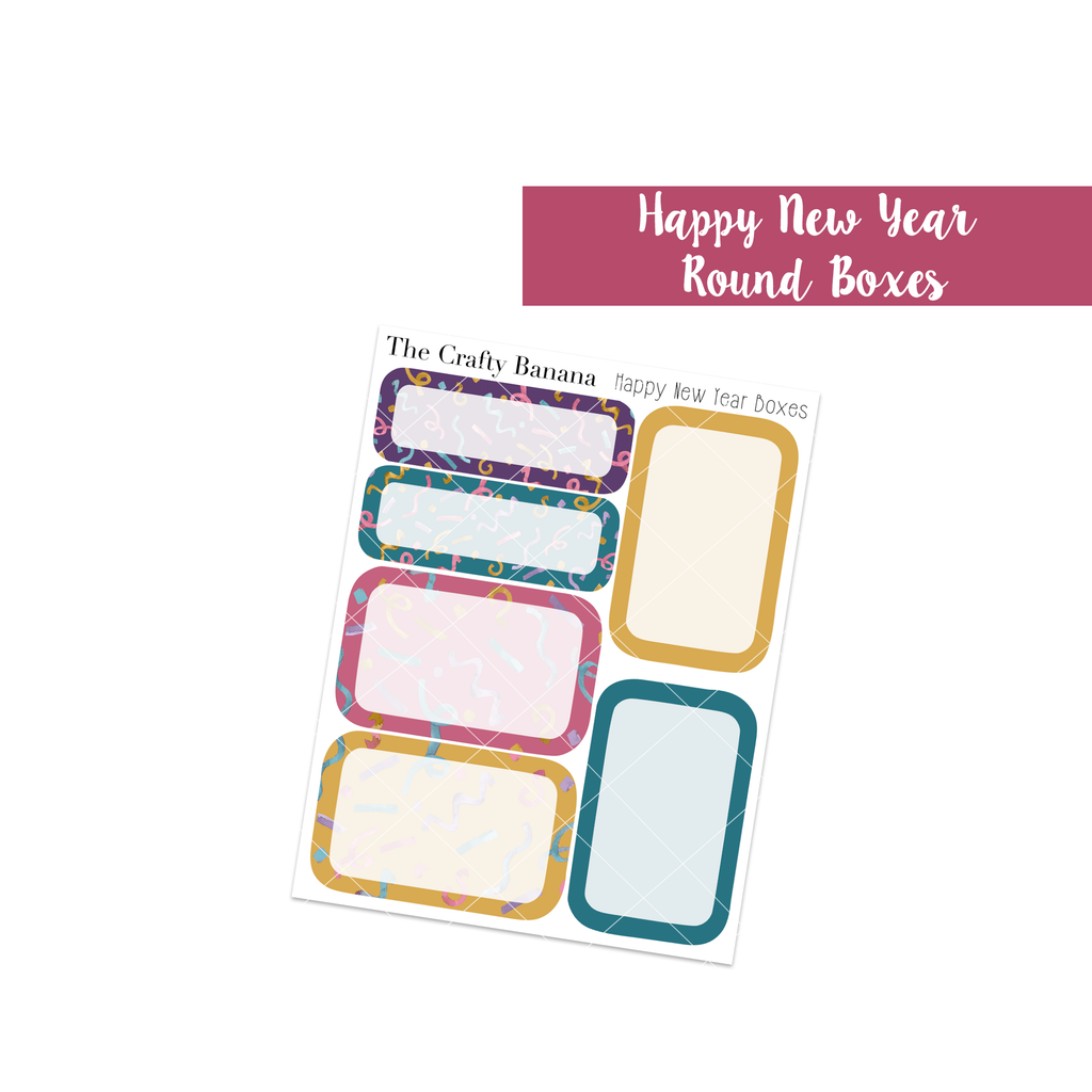 Happy New Year Collection: Round Boxes