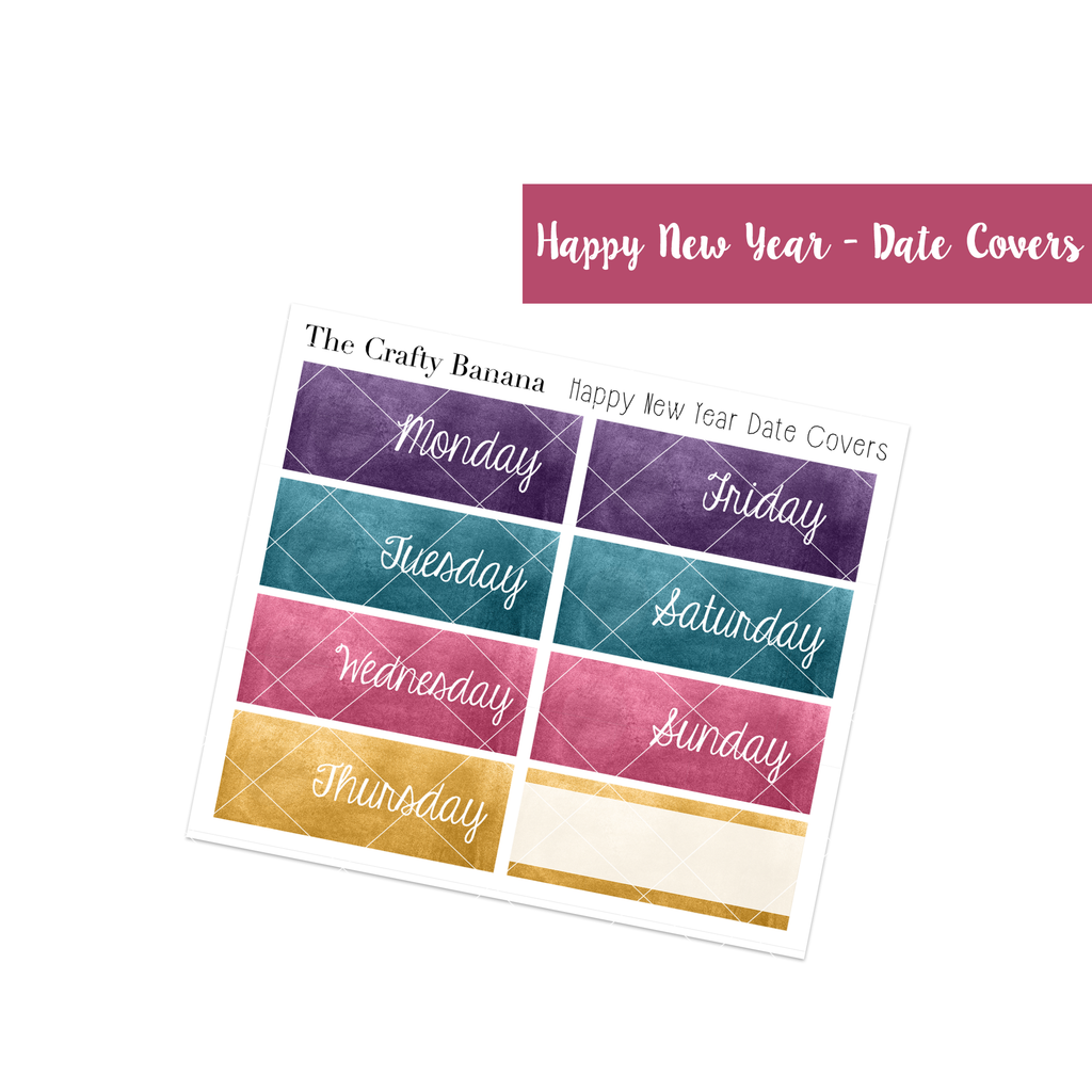 Happy New Year Collection: Watercolor Date Covers