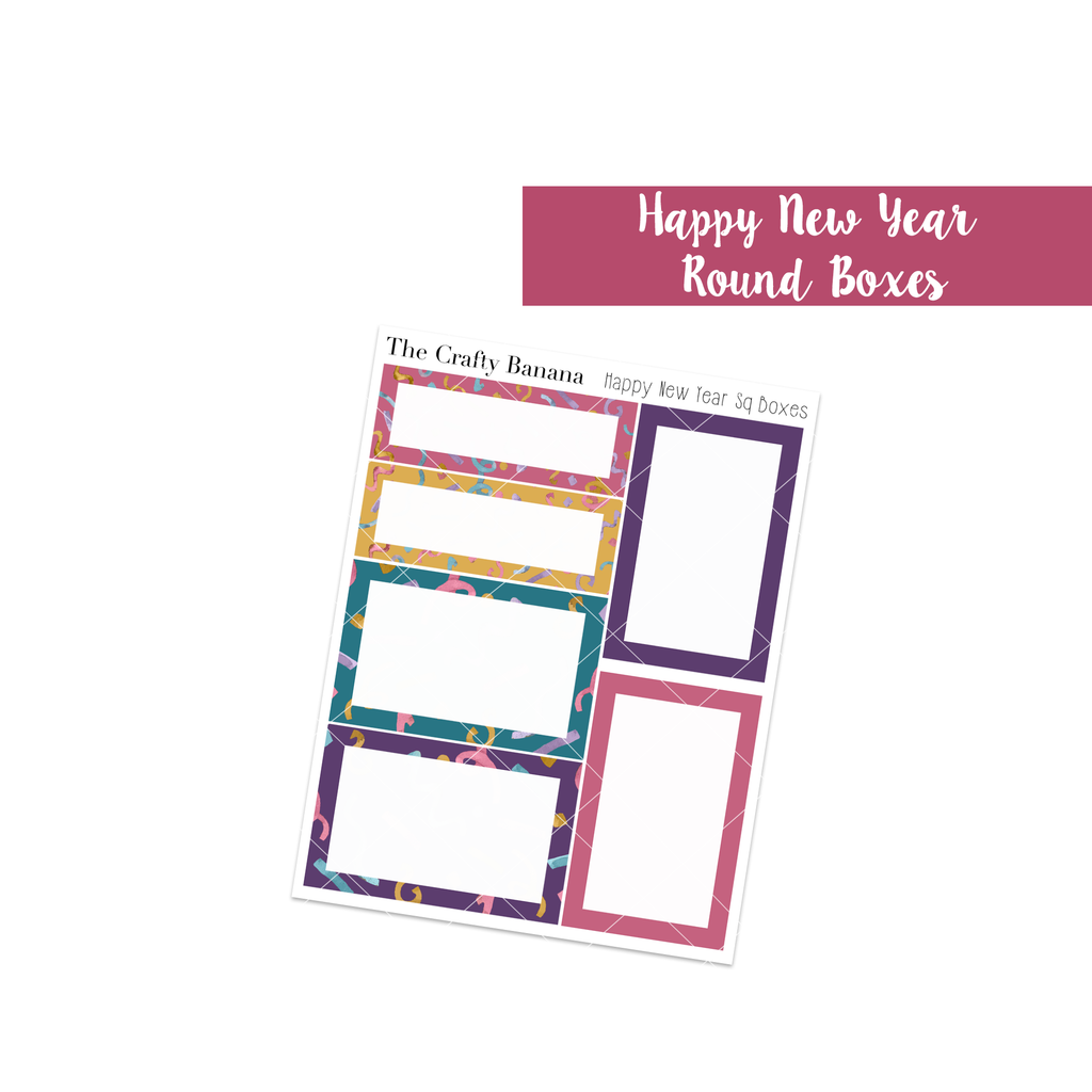 Happy New Year Collection: Square Boxes