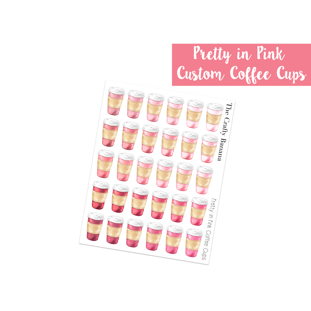 Pretty in Pink Customizable Coffee Cups