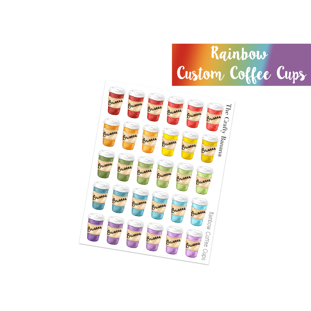 Rainbow Customizable Coffee Cups