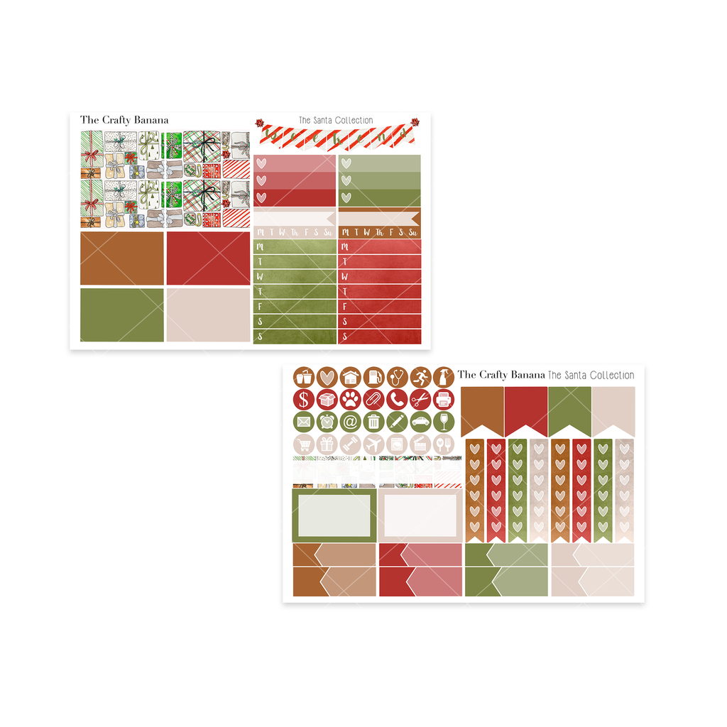 The Santa Collection: Washi Sampler & Functional Sheets