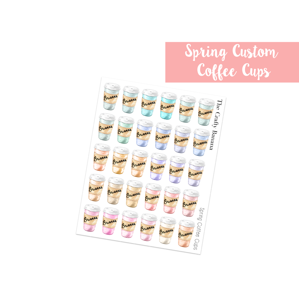 Spring Customizable Coffee Cups
