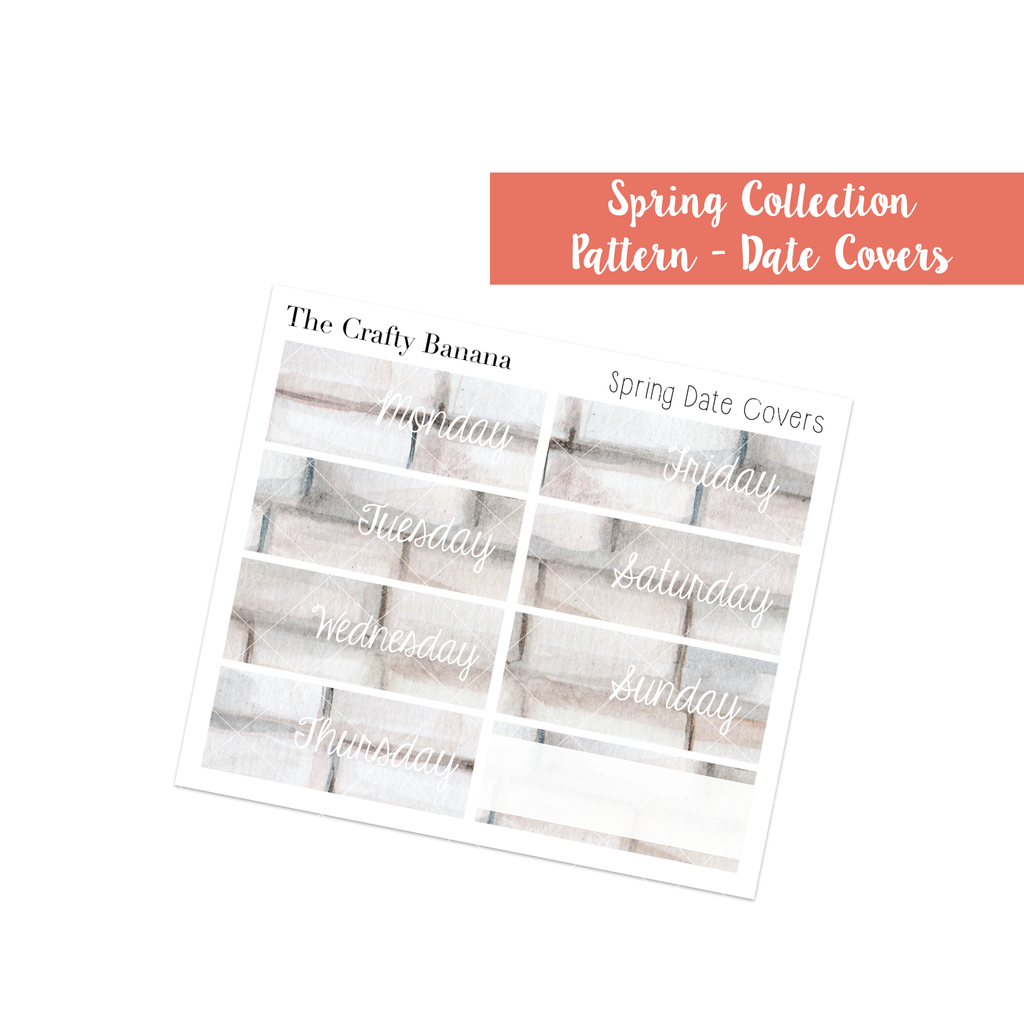 Spring Collection: Pattern Date Covers