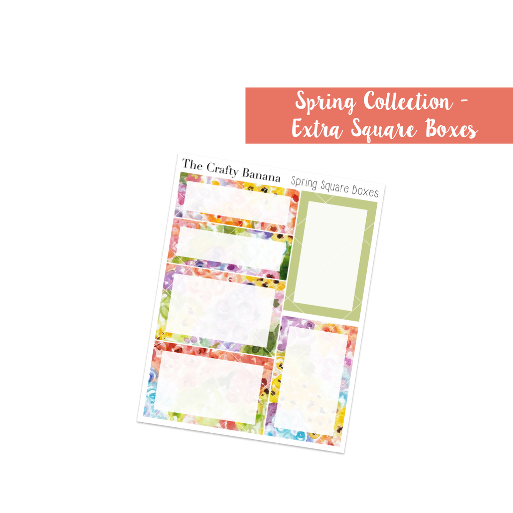 Spring Square Boxes - Add On *NEW*