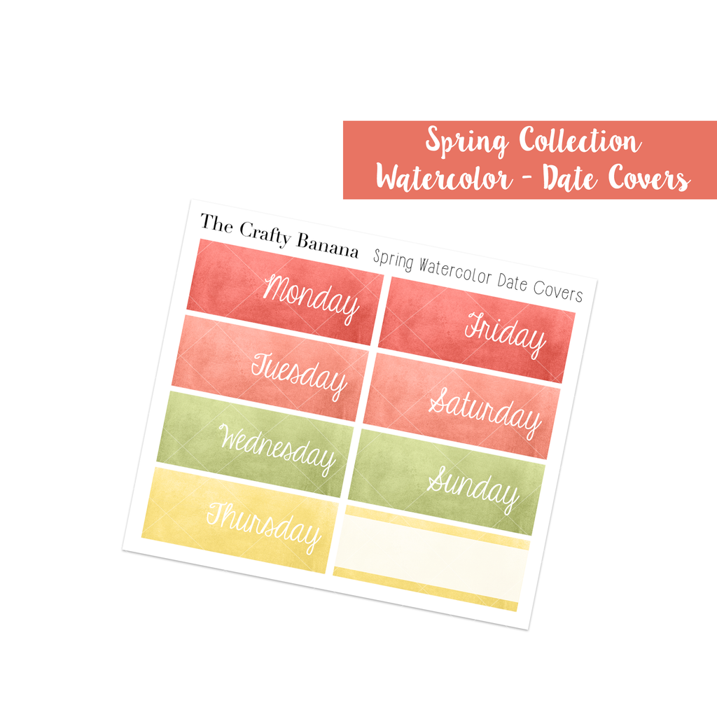 Spring Collection Watercolor Date Covers